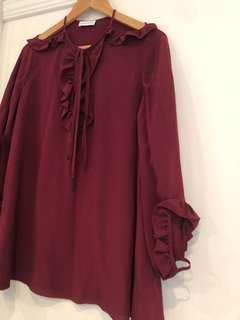 Scanlan Theodore Silk Blouse, 8 (fits 10)