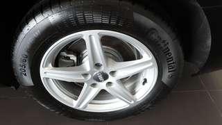 Brand new Original Audi 16 inch forged with continental Comfort contact 205/60/16