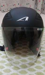 Astone helmet open face black matte