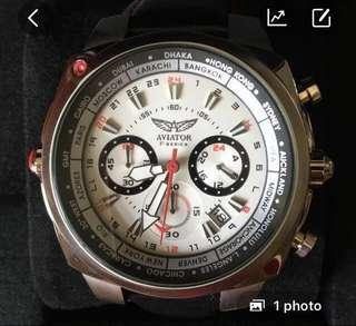 Aviator F series World Time Tachymetre Chronograph Watch