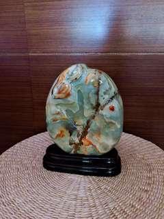 花蓮玉石 義大利石 風景石 景品 擺件 風水