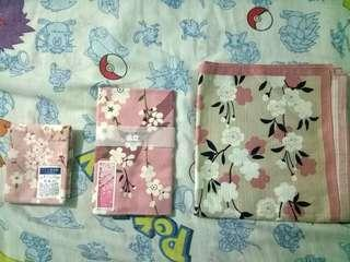 Cherry blossoms printed cloth from Japan