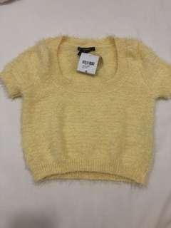 BNWT Forever 21 Yellow Knit Crop Top