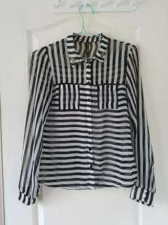 Bershka stripes blouse