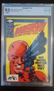 Daredevil #184 CBCS 9.2 (1982 1st Series) DD Vs The Punisher! Classic Cover by Frank Miller! Minor Key-Book!