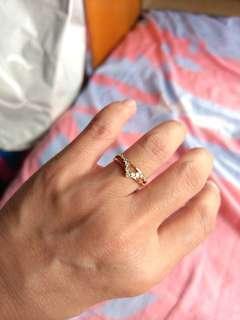 14k金鑽石戒指