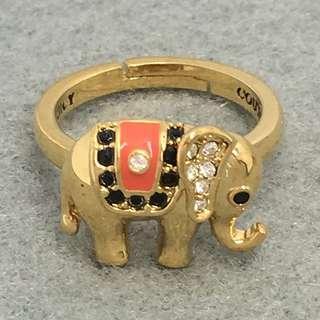 Juicy Couture Sample Ring 大象金色閃石戒指 Size可以自行調節 最小尺寸為1.6 cm內部直徑