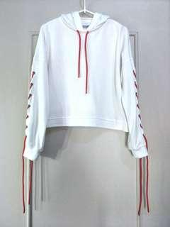 High-quality lace-up hoodie