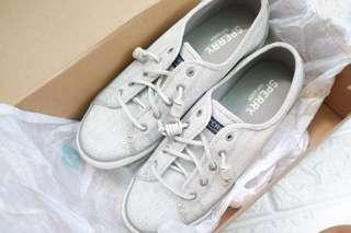 Authentic Sperry Seacoast Diamond Print Sneakers