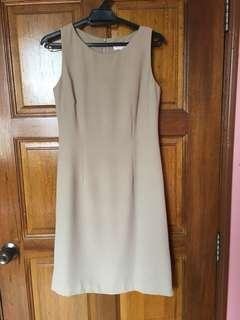 Scarlet Beige Corporate Dress
