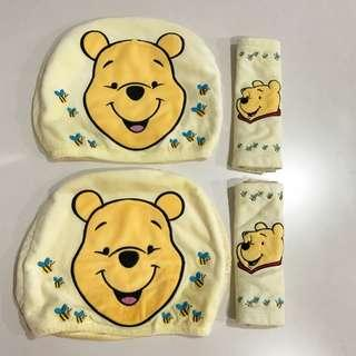Winnie the Pooh Headrest & Safety Belt Cover