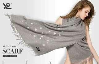 🇦🇺澳洲YPL羊駝絨變色星空圍巾