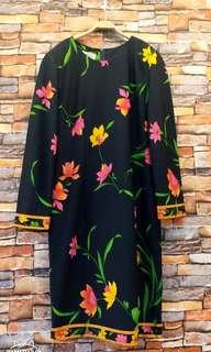🚚 韓版花卉修身洋裝