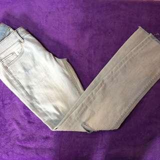 Uniqlo Tattered Faded Blue Pants