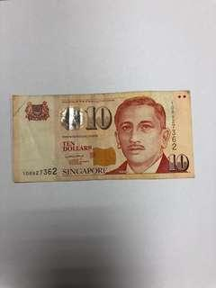 Singapore $10 Potrait Paper Note