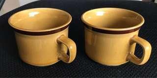 湖南銅官造咖啡杯一對
