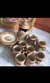 BNIB 16 Pc Earthen Ware Coffee Set