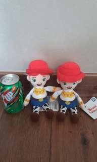 Toy Story Jessie 兩隻 beans plush