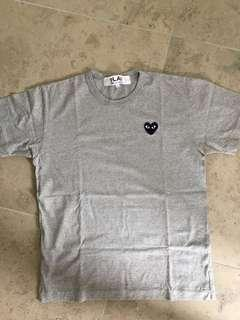 CDG Play T-Shirt Grey