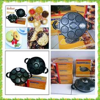 Cetakan Kue Lumpur 8 Lubang Happycall Snack Maker Teflon Cookies Surabi Pan Termurah