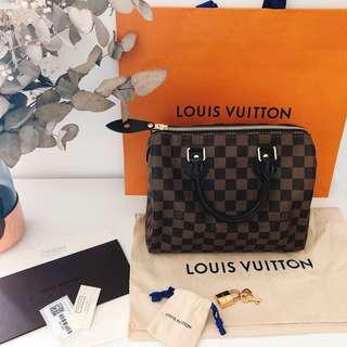 100% New 2018 LV damier speedy 25