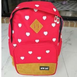 BRAND NEW Stylish Red Hearts Backpack