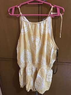 Yellow Romper from F21