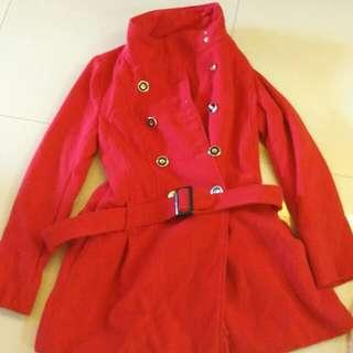 Red Winter Coat Size 10