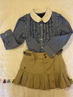 🚚 5歲 polo 襯衫+短裙