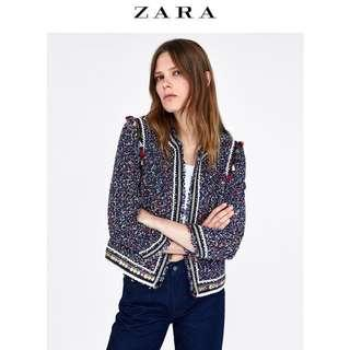Zara tweed jacket (sold out item)size M brandnew