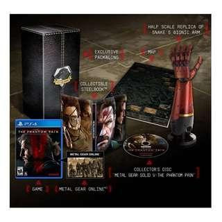PS4 METAL GEAR SOLID V THE PHANTOM PAIN R2 COLLECTORS EDITION