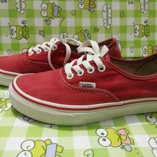 Sepatu vans authentic red
