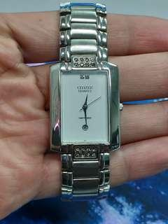 Ladies Citizen Sapphire Watch Square