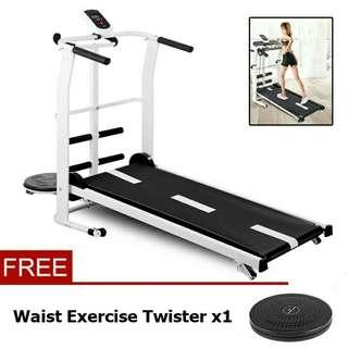 Treadmill with sit up stand