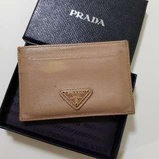 Prada Card Holder Saffiano ORO Cammeo Card Holder 1M0208