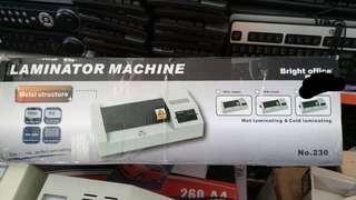 Hot and cold A4 laminator