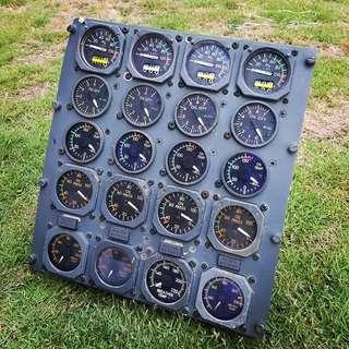 Vintage Aircraft Guage Indicator
