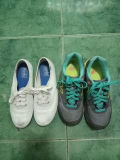 Free shipping!Take all this authentic keds and new balance shoes! No issues size 6/23cm. With freebie. Last price