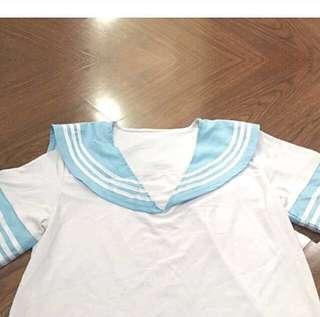 Sailor Seifuku Pastel Blue Top