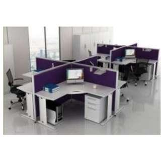 LINEAR WORKSTATION CUBICLES--BBFT