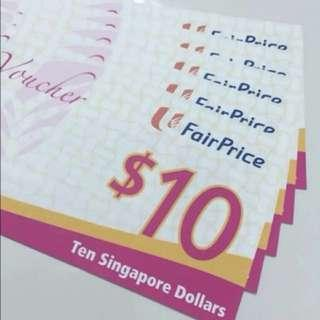 NTUC FairPrice Gift Voucher Value $100 for $95 (5% Discount) FIXED PRICE