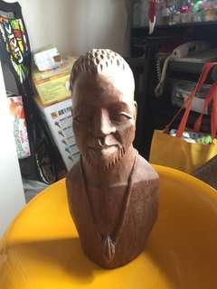 🚚 國外買的人頭木雕