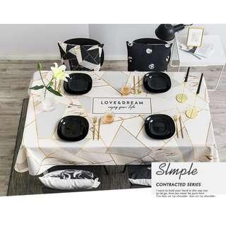 Simple Geometrical Pattern Table Cloth, 現代簡約幾何圖案枱布