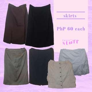 Skirts for PhP 60 each