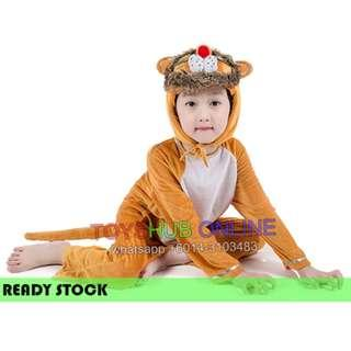 Deluxe Kids Children Lion Hoodie Costume Animal Fairytale Outfit 4-7y