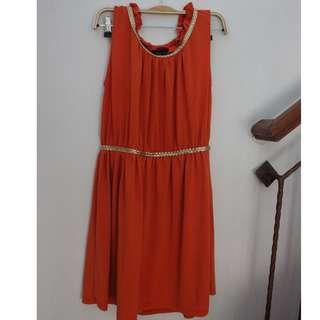 Orange Party Dress