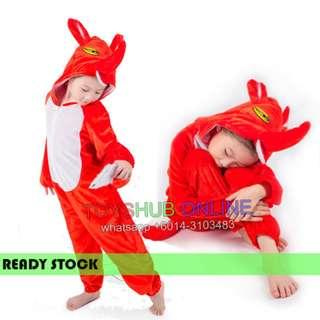 Deluxe Kids Children Red Fox Hoodie Costume Animal Fairytale Outfit 5-7y