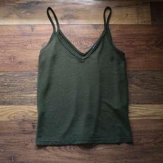 Forest Green Knit Singlet