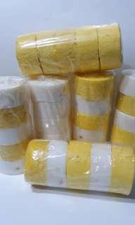 Gluthamansi and Aha lemon with baking soda soaps