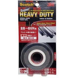 3M Scotch Super Heavy Duty Tape 12MMX1.5M